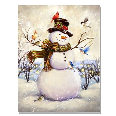 TrendyDecor4U Lighted Canvas Top Hat Snowman -16