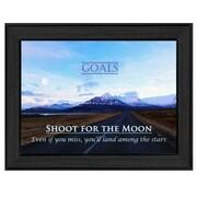 "TrendyDecor4U Goals Framed Print -12.25""x8.5"" Framed Print (ME11A-405)"