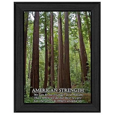 TrendyDecor4U American Strength Framed Print -8.5