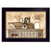 "TrendyDecor4U Duck and Berry Still Life -18""x12"" Framed Print (LS1547-712)"