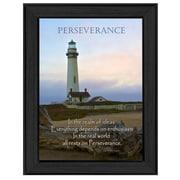 "TrendyDecor4U Perseverance Framed Print -8.5""x12.25"" Framed Print (ME05A-405)"