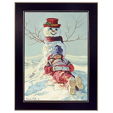 TrendyDecor4U Girl leaning on snowman -12
