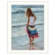 "TrendyDecor4U The Striped Skirt -12""x16"" Framed Print (JAN127-712W)"