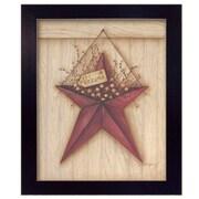 "TrendyDecor4U Welcome Barn Star-11""x14"" Framed Print (MARY268-712)"
