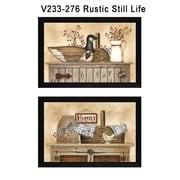 """TrendyDecor4U Rustic Still Life -2-18""""x12"""" Framed Print (V233-276)"""