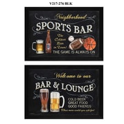 "TrendyDecor4U Sports Bar -2-18""x12"" Framed Print (V217-276)"