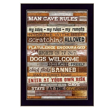 TrendyDecor4U Man Cave Rules -8.5