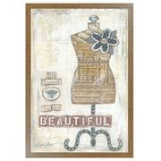 "TrendyDecor4U Beautiful -12""x18"" Framed Print (ALP1164-426BR)"