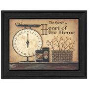 """TrendyDecor4U Heart of the Home -16""""x12"""" Framed Print (BR188-405)"""