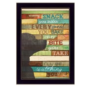 "TrendyDecor4U I'll Be Watching You -8.5""x12.25"" Framed Print (MA969D-712)"