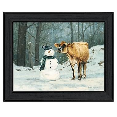 TrendyDecor4U Cow licking a snowman -16