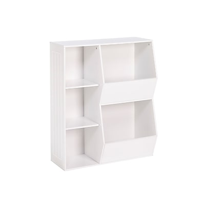 RiverRidge Kids 3-Cubby, 2-Veggie Bin Floor Cabinet, White (02-146)