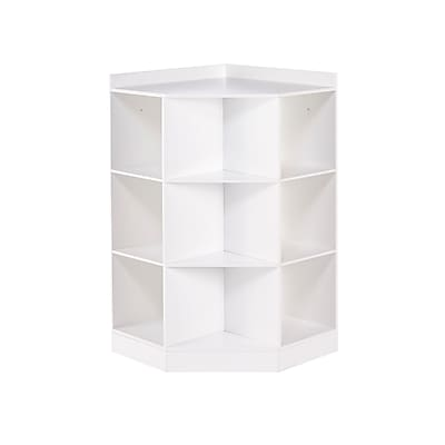 RiverRidge Kids 6-Cubby, 3-Shelf Corner Cabinet, White (02-144)