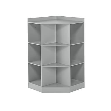 RiverRidge Kids 6-Cubby, 3-Shelf Corner Cabinet, Gray (02-145)