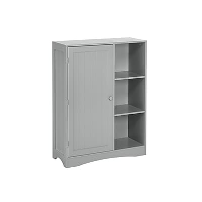 RiverRidge Kids Single Door, 3-Cubby Floor Cabinet, Gray (02-143)