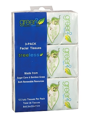 Green2® Tree Free Pocket Facial Tissue, 3pks, 80 count