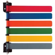Omnimed Standard Room 6-Flag System, 8 Inch Wide Flags, 180 Degree Rotation, Painted Aluminum (291706)