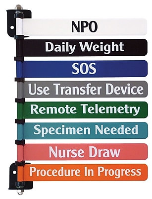 Omnimed Custom 8-Flag System, 8 Inch Wide Flags, Two Side Printing, Painted Aluminum(291718CP2)