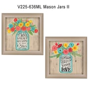 "TrendyDecor4U Mason Jars II -2-12""x16"" Framed Print (V225-636ML)"