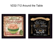 "TrendyDecor4U Around the Table -1-12""x12"" Framed Print (V232-712)"