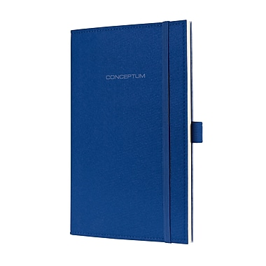 Sigel Felt Softcover Lined Notebook A5 Journal Size With Elastic Closure, Royal Blue (SGA5FEL-RB)
