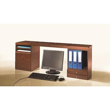 Bindertek – Range-tout de bureau empilable en bois, plateforme de bureau
