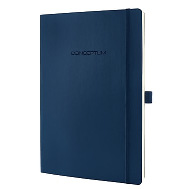 Sigel Softcover Graph Notebook - A4 Extra Large Size with Elastic Closure, Blue (SGA4SES-BL)