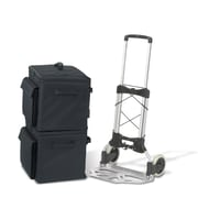 Bindertek Soft Sided Binder Case and Heavy Duty Cart, 2 Cases (CD4-BK)