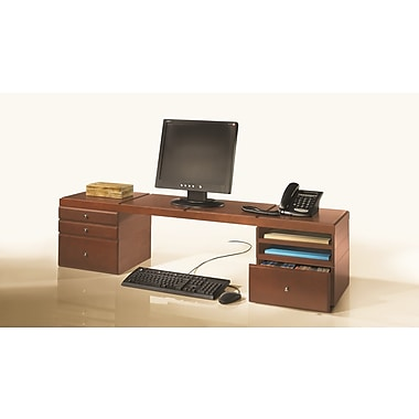 Bindertek Stacking Wood Desk Organizers, Desktop Platform Kit 4 (WK13-CH)