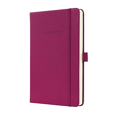 Sigel Hardcover Lined Notebook A5 Journal Size With Elastic Closure, Wild Pink (SGA5HEL-WP)