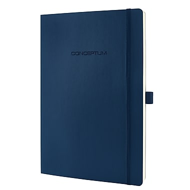 Sigel Softcover Lined Notebook - A4 Extra Large Size with Elastic Closure, Blue (SGA4SEL-BL)