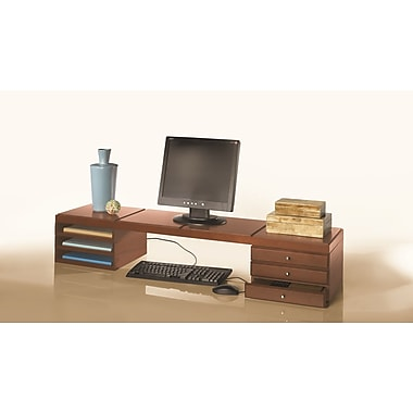 Bindertek Stacking Wood Desk Organizers, Desktop Platform Kit 2 (WK11-CH)