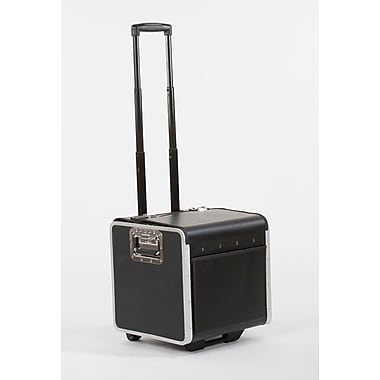 Bindertek Hard Sided Rolling Caddy Case, Compact Size (CD7S-BK)