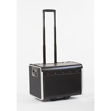 Bindertek Hard Sided Rolling Caddy Case, Full Size (CD7-BK)