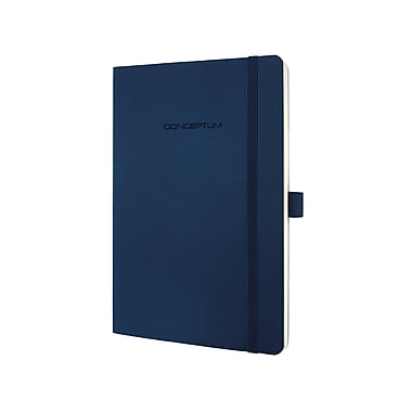 Sigel Softcover Graph Notebook - A5 Journal Size with Elastic Closure, Blue (SGA5SES-BL)