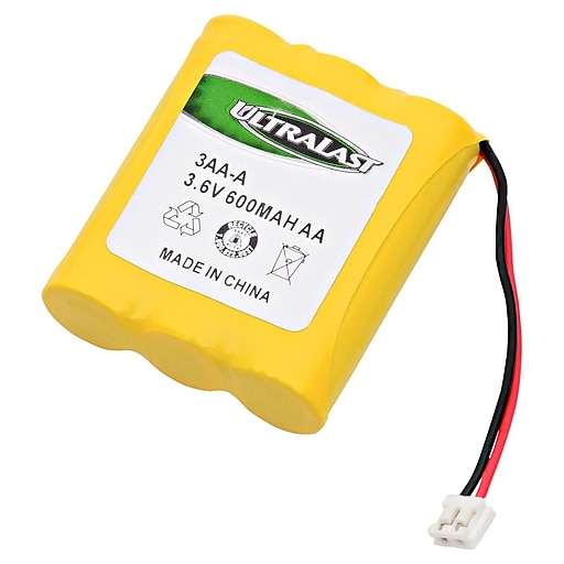 Ultralast® 3.6 V Ni-CD Cordless Phone Battery For AT&T 6100 (3AA-A)