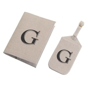 Lillian Rose Tan Monogram Luggage Tag & Passport Cover Set - G (TR185 G)