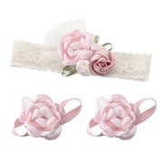 Lillian Rose Baby Headband & Barefoot Sandals - Pink (24HB100 PI)