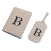 Lillian Rose Tan Monogram Luggage Tag & Passport Cover Set - B (TR185 B)