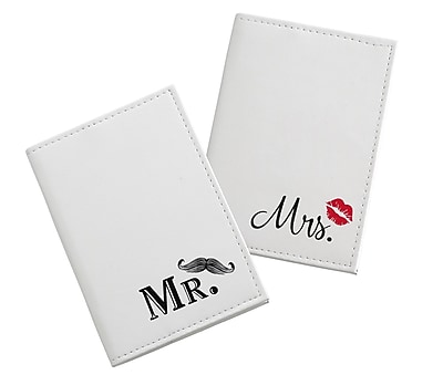 Lillian Rose Mustache & Red Lips Passport Covers (TR643 MM)