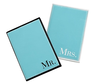 Lillian Rose Mr. & Mrs. Aqua Passport Covers (TR641 MM)