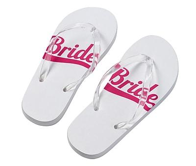 Lillian Rose Bride Flip Flops - Large (FF672 LB)