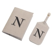 Lillian Rose Tan Monogram Luggage Tag & Passport Cover Set - N (TR185 N)