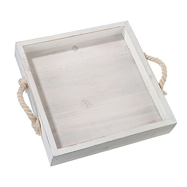 Lillian Rose Square Wood Wedding Tray with Rope Handles (WT510 B)