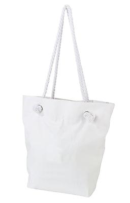 Lillian Rose White Canvas Beach Bag (TR674 B)