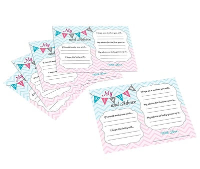 Lillian Rose Gender Reveal Wishes Cards (24BS250 WC)