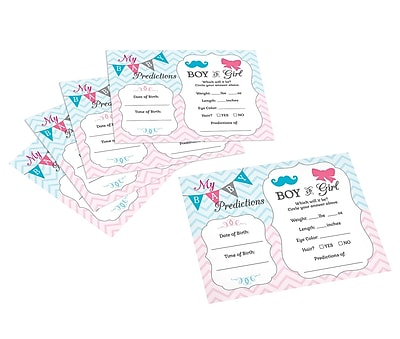 Lillian Rose Gender Reveal Prediction Cards (24BS250 PC)