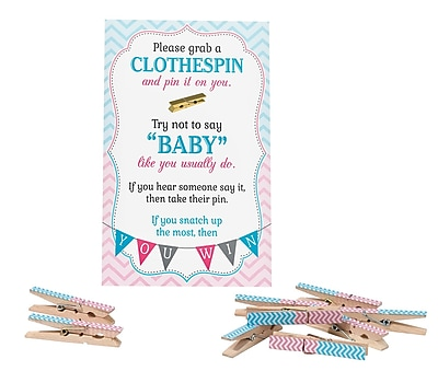 Lillian Rose Gender Reveal Clothespin Game (24BS250 CG)