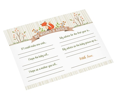 Lillian Rose Woodland Baby Shower Wishes Cards (24BS230 WC)