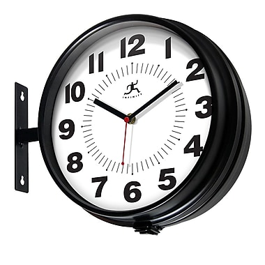 Infinity Instruments – Horloge de 10,75 haut. x 13 larg. x 4,25 prof. (po), noir (15134BK-4167)